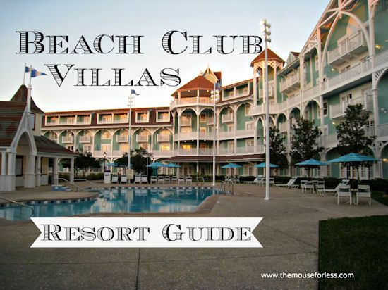 Disney's Beach Club Villas - room information, dining locations, resort map, photos, and tips. A Walt Disney World resort hotel.