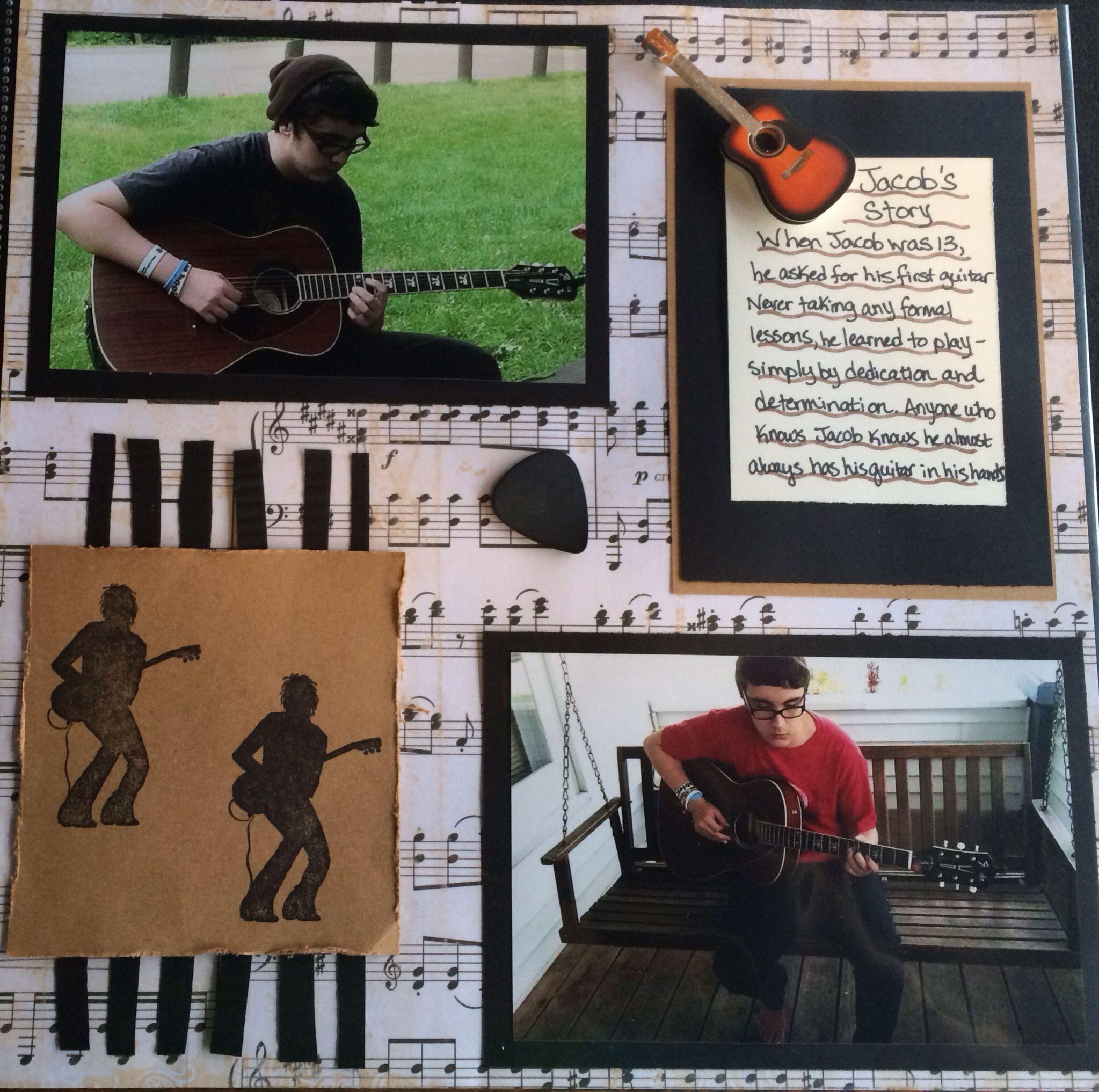 Scrapbook ideas music - Music Scrapbook Layout