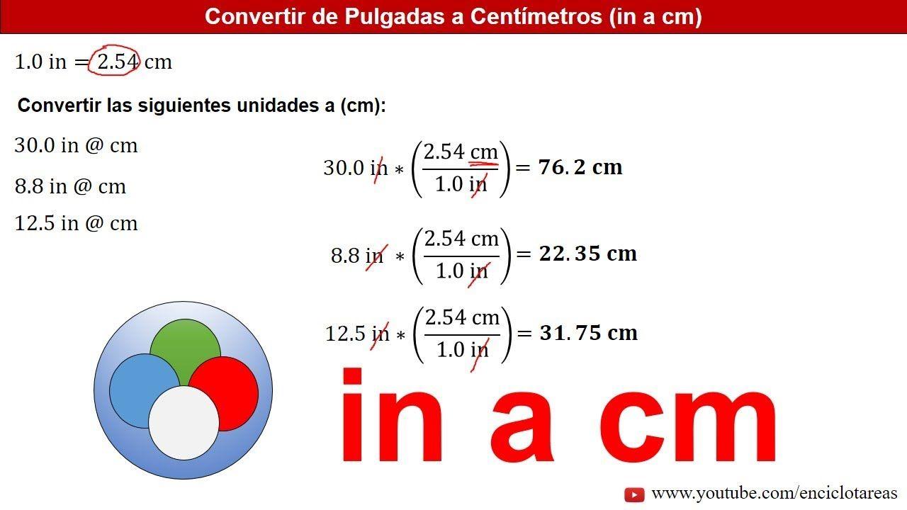 Pulgadas A Centímetros In A Cm Ejemplos Youtube Arquitectura Origami Trucos Matematicos Youtube