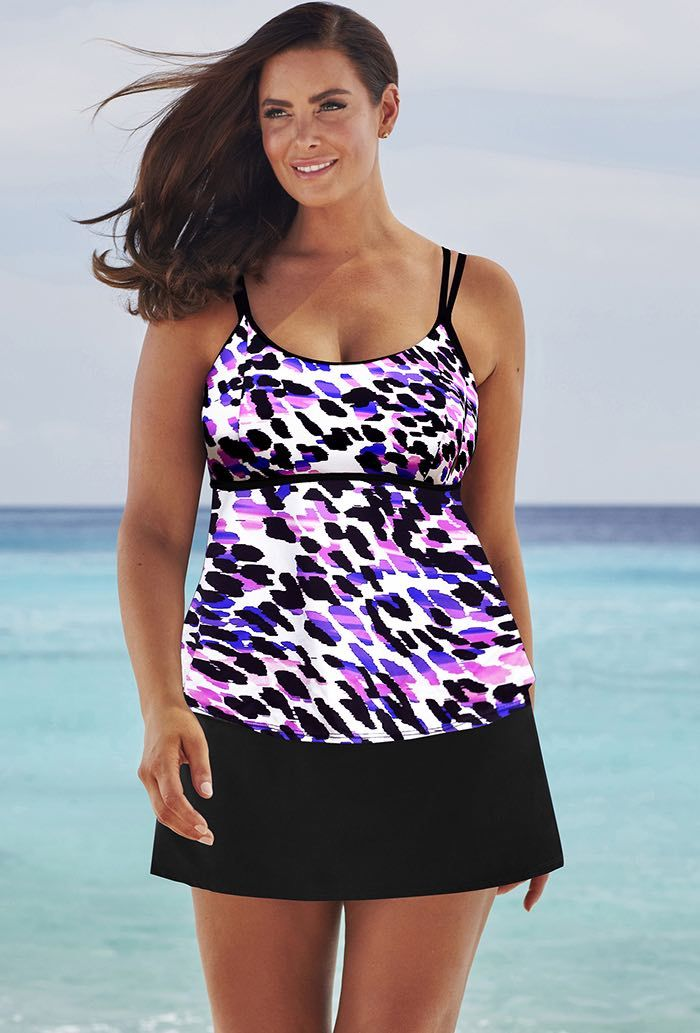 08f0a63dbd0 Beach Belle Stargazer Lingerie Skirtini | Plus Size Fashion | Pinterest