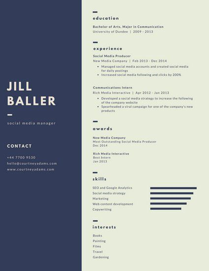 Marine Vertical Infographic Resume Resume Design Pinterest - info graphic resume