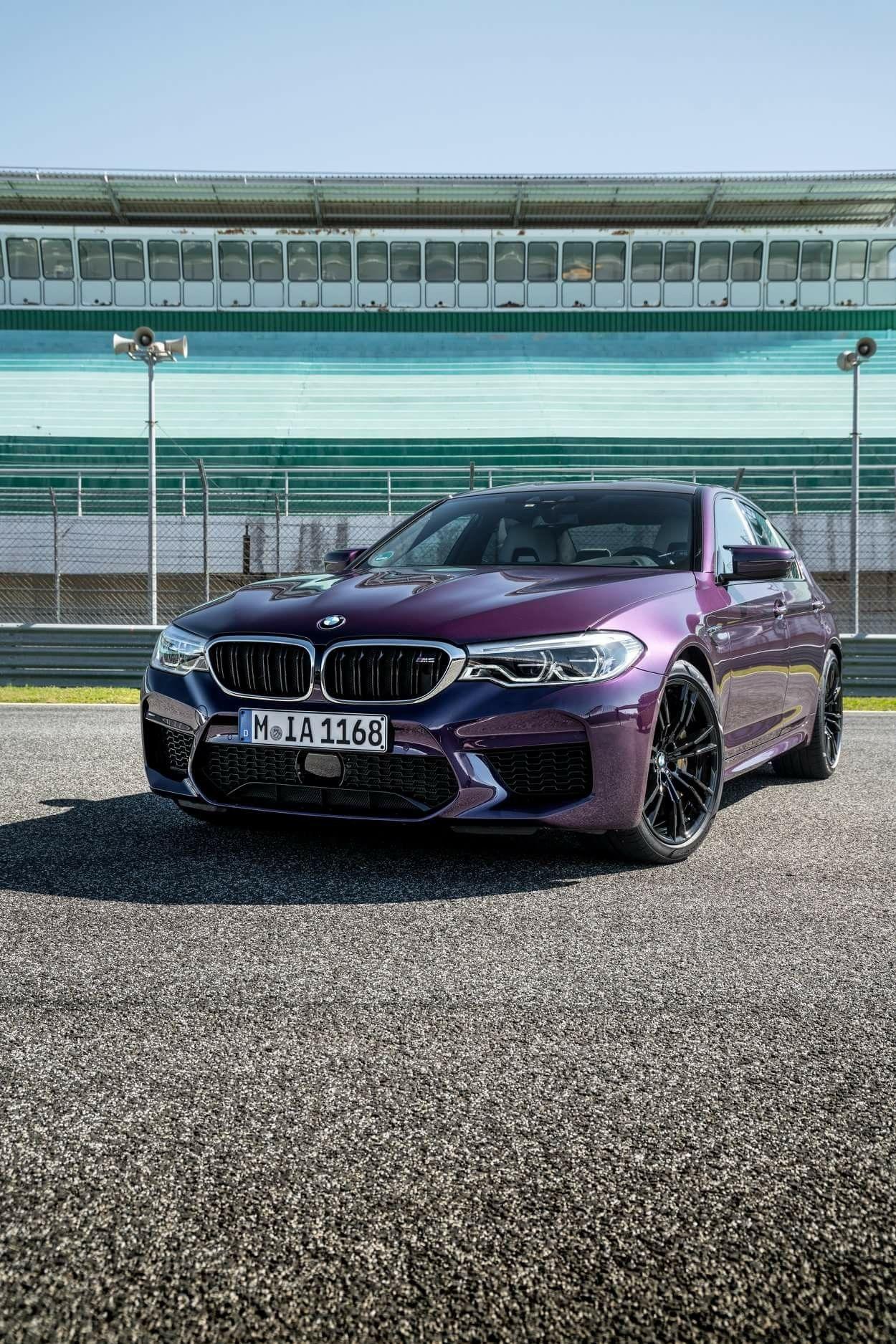 BMW F90 M5 in BMW Individual Special Paint Purple Silk metallic