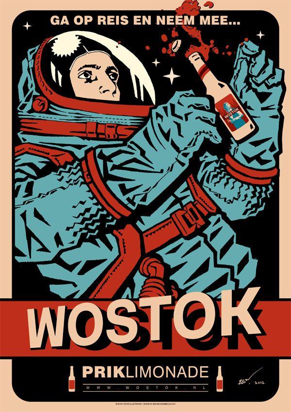 WOSTOK - soda by Ben van Brummelen, via Behance