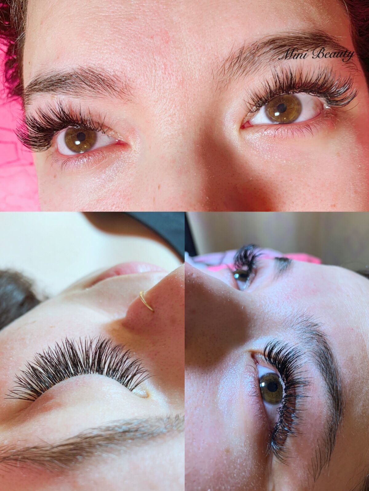 f175fd15069 Hybrid mix of volume and classic Full Set, Eyelash Extensions, Eyelashes,  Human Eye
