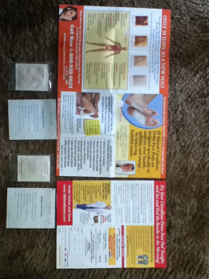 Free Circulease Detox Foot Pads From Wellmed Foot Detox Pads Foot Pads Pad