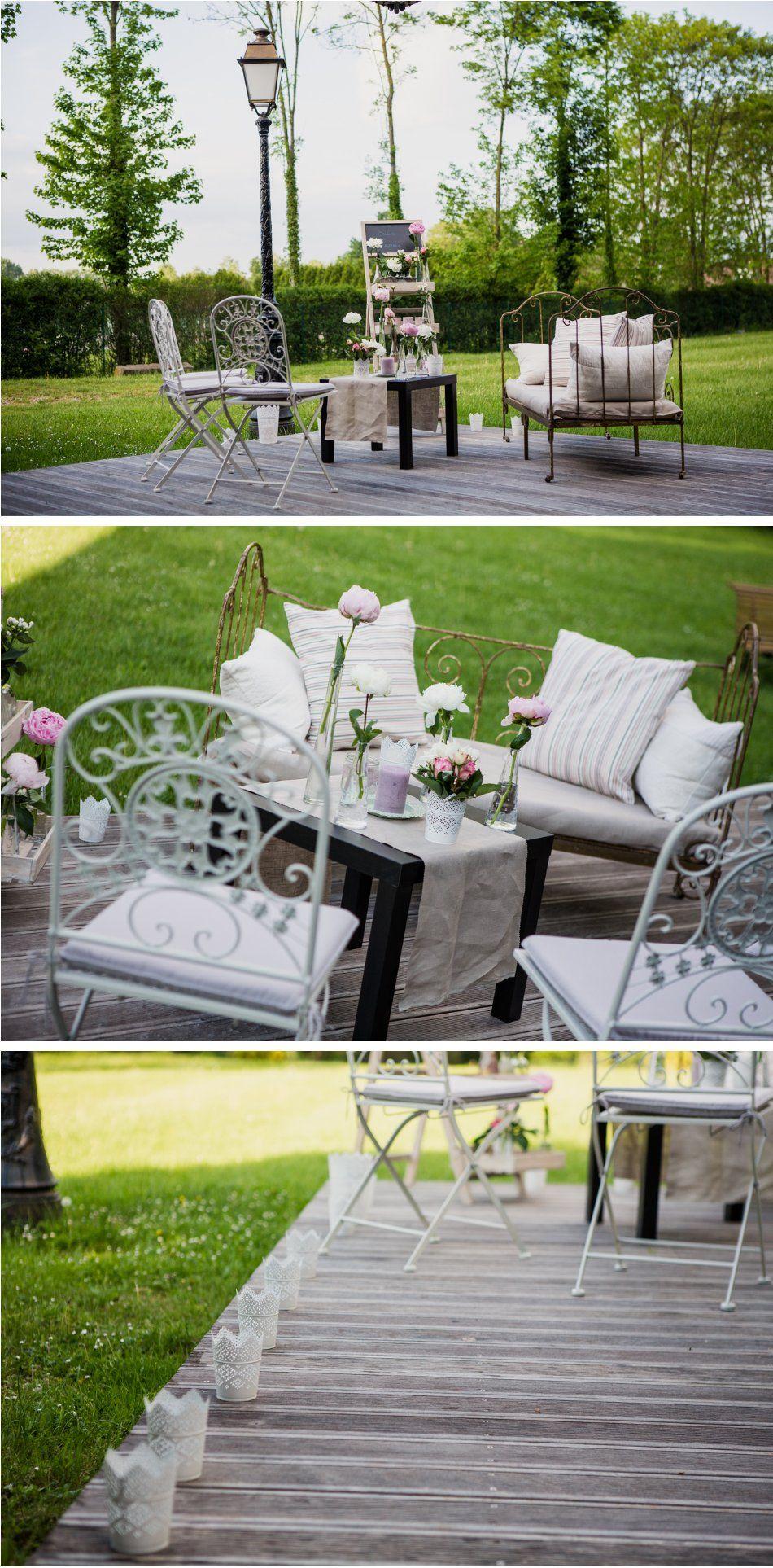 Plan de table origami salon exterieur d co by f elicit photos raphael melka mariage sur le - Salon de jardin en anglais ...