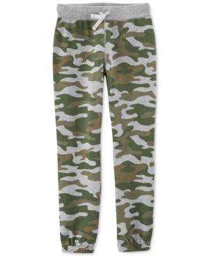 227335dc1e90 Little & Big Boys Camo-Print Fleece Jogger Pants | Products | Camo ...