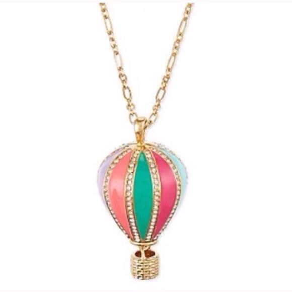 Kate Spade Balloon Necklace New without tag Kate Spade Balloon Necklace Retails $90 plus tax Size: tba Includes dust bag ❎NO OFFERS.Poshmark takes ALL  ❎NO trades or holds ❎NO RETURNS.You'll be reported ❎NO rude comments get blocked ❎ALL authentic ?'s, gtfo.Not selling to skeptical buyers, buy full price in store!  ❎NO more pics Poshmark allows 4 only. ✔️ACCEPT once you receive! ✔️Yes, its available ✔️Same Day Shipping I have every RIGHT to block you kate spade Jewelry Necklaces