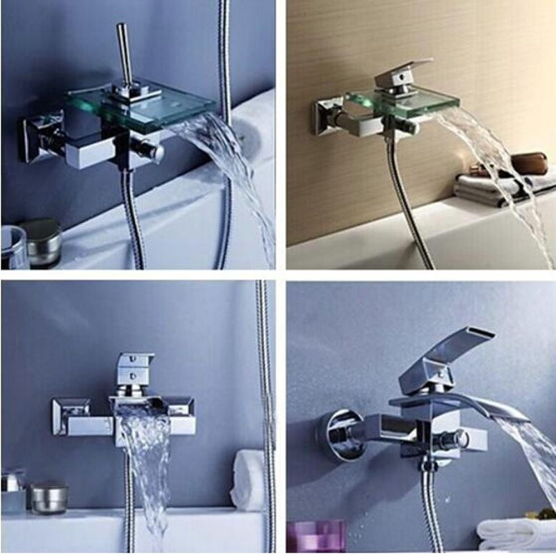 BAKALA Bathroom Faucet Bath Shower Faucet In-Wall Waterfall Mixer ...