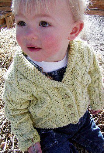 d66c095f9cf1 Free Knitting Pattern - Baby Knits  Trellis Baby Sweater