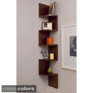 laminated veneer corner wall mount shelf myra vintage industrial modern rustic bookcase by tribecca home - Showcase Designs For Living Room