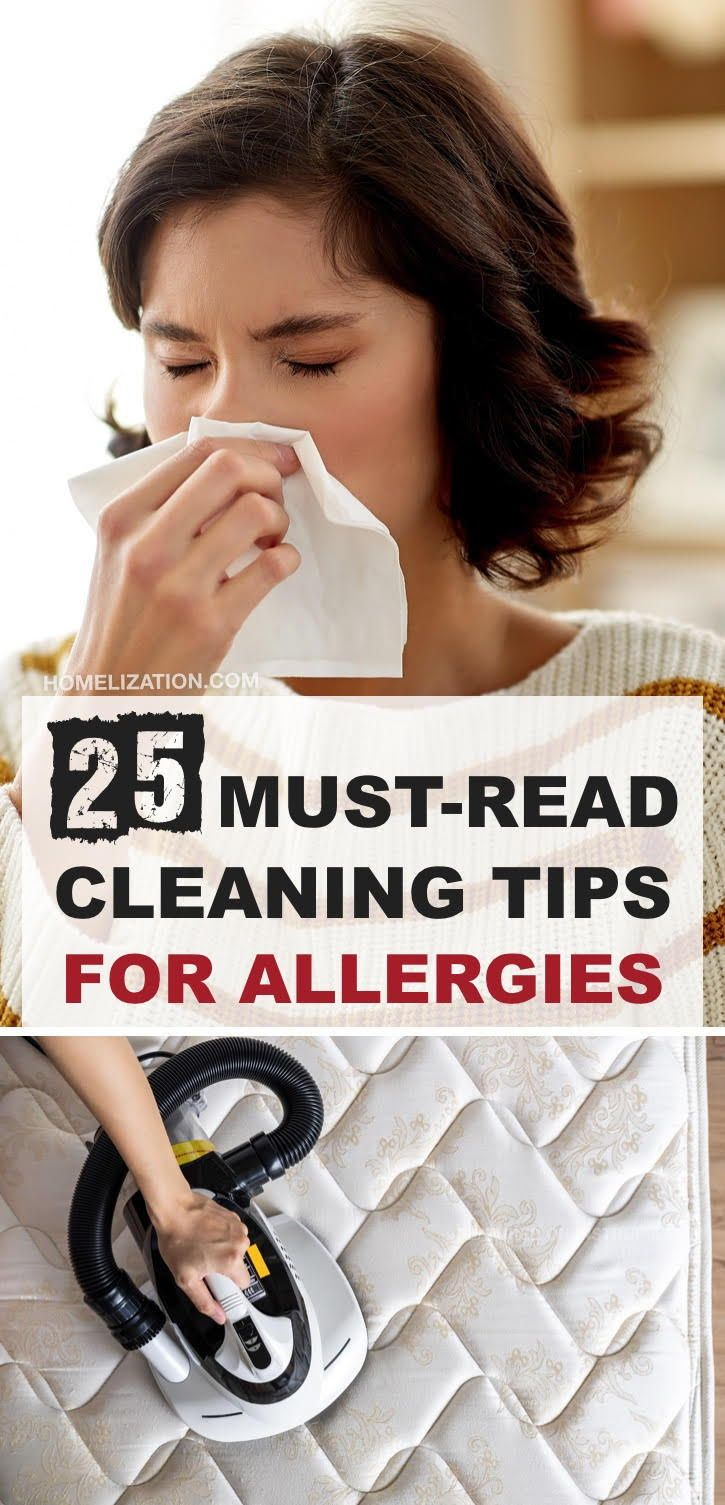 25 Cleaning Tips For Allergy Sufferers in 2020 Cleaning