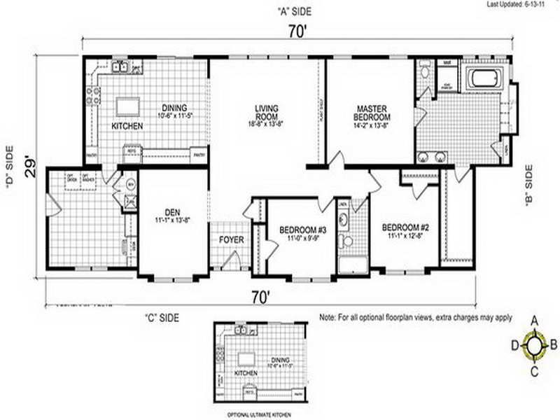 4 bedroom double wide mobile home floor plans ~ http