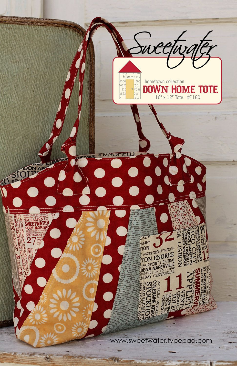 Down Home Tote - Download Pattern | Sewing Handbags, Totes and more ...