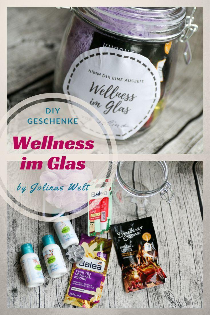 Wellness im Glas mit kostenloser Vorlage | DIY | Pinterest | Spa tag ...