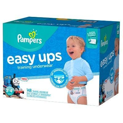 8cc533e1223 Pampers Easy Ups Boys Training Pants One-Month Supply (Assorted Sizes)