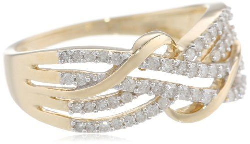 10k Yellow Gold Diamond Ring (1/3 cttw, H-I Color, I3 Clarity), Size 8 on http://jewelry.kerdeal.com/10k-yellow-gold-diamond-ring-13-cttw-h-i-color-i3-clarity-size-8