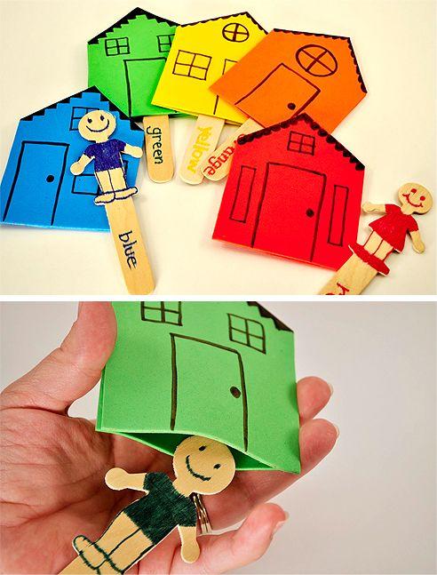 Populares Dica para trabalhar cores e moradia | Pra Gente Miúda | Pedagogia  SO71