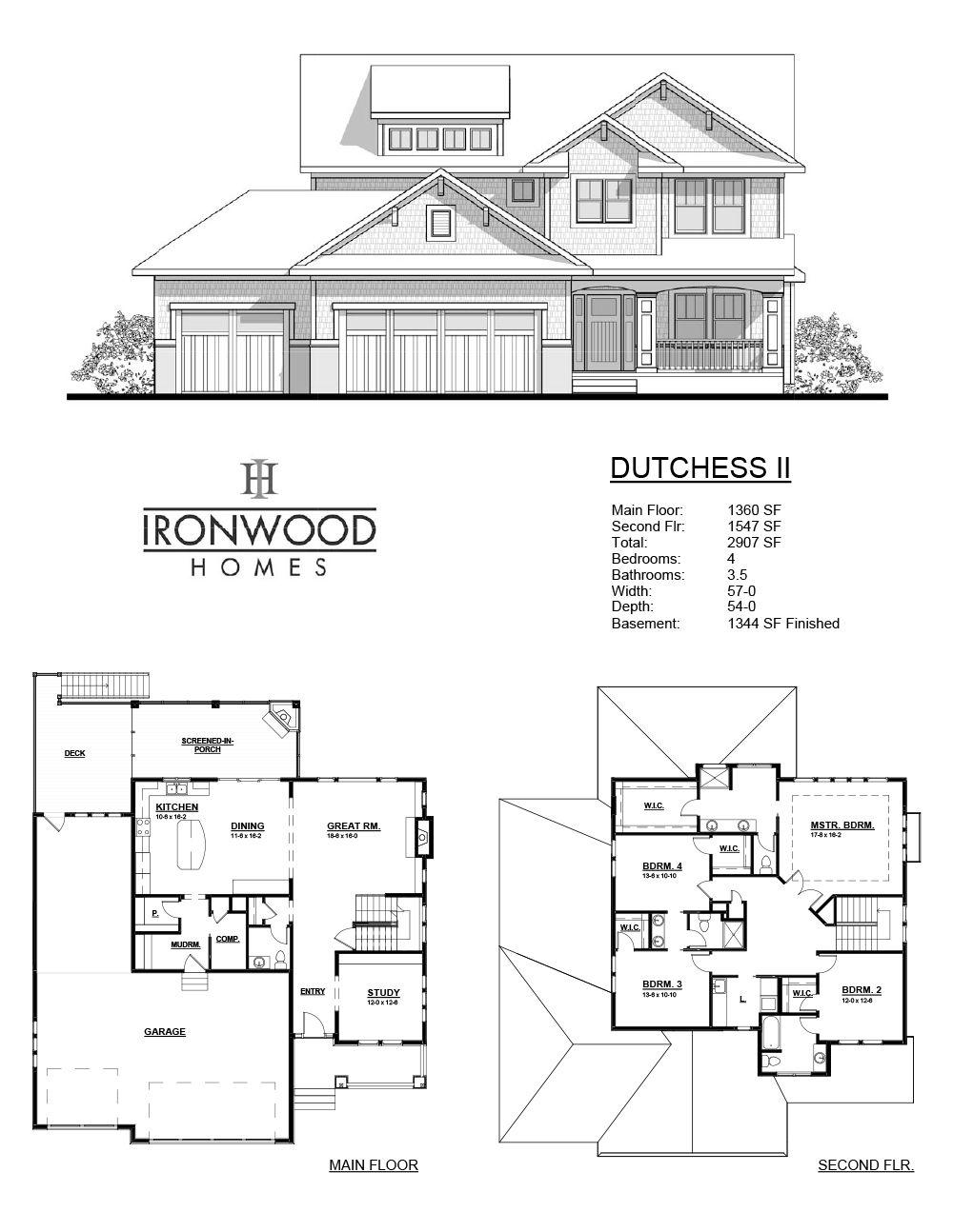 Dutchess Ii Floor Plan Info Sheet Floor Plans New Home Wishes House Plans
