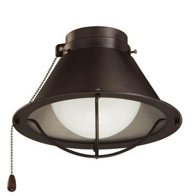 Illumine Zephyr 1Light Oil Rubbed Bronze Ceiling Fan Light KitCLI