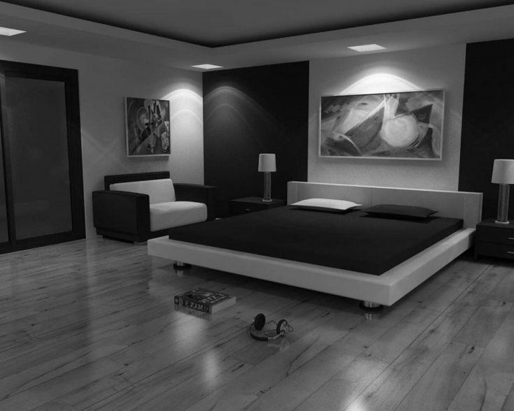 Moderne Schwarz Schlafzimmer Ein Schrank im Schlafzimmer