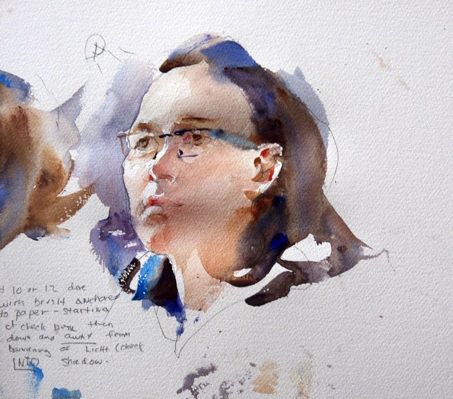 The Painting Struggle: Charles Reid at Burford - Second demonstration - Portraits