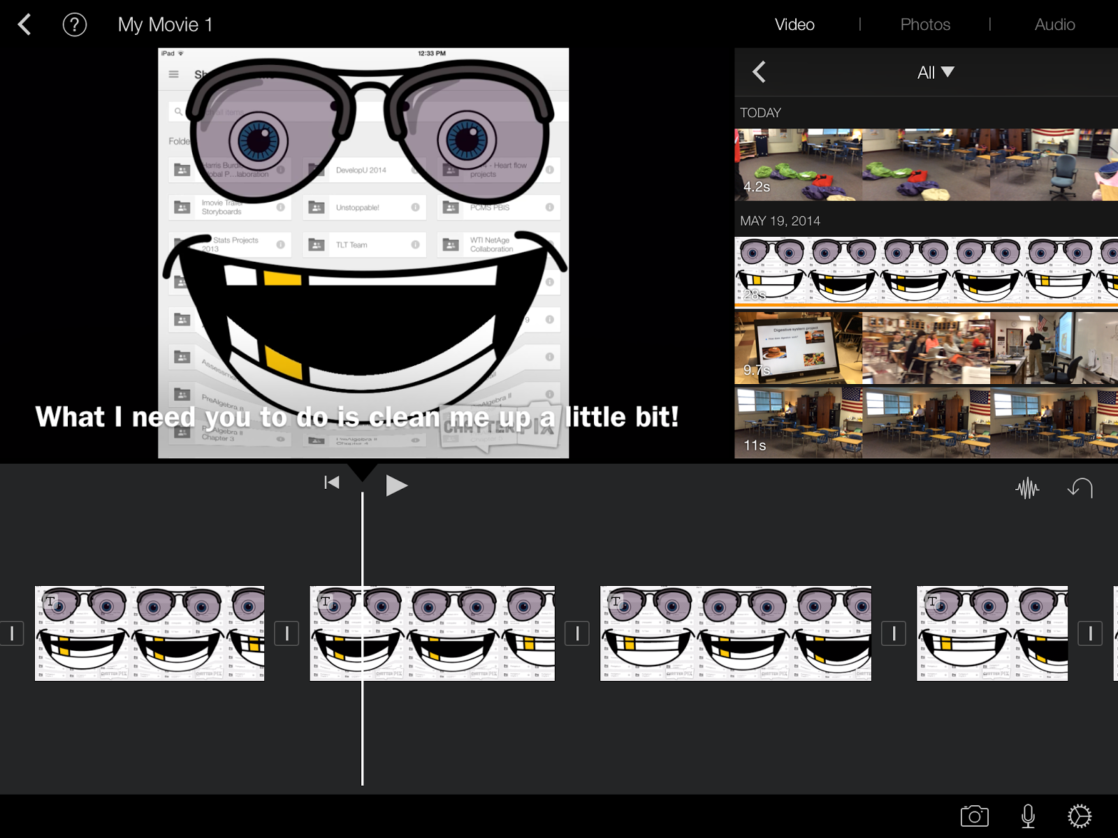 iPaddiction: iMovie On iPad - Adding Subtitles - splicing clips to ...