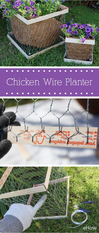 Diy Chicken Wire Planter Box Ehow Com Chicken Diy Planters Outdoor Flower Planters