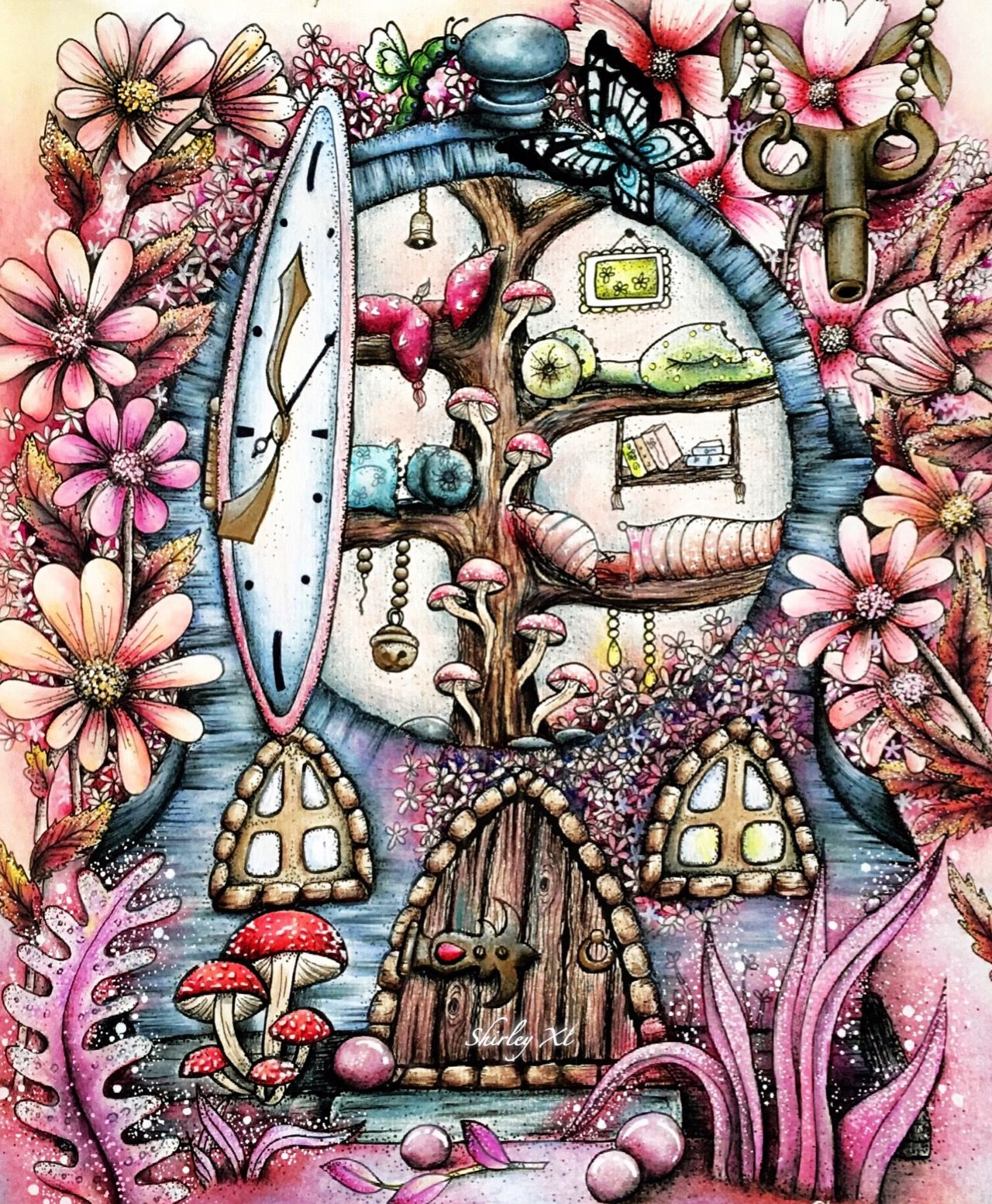 Pin On Adult Coloring Book K M Magical Delights Carovne Lahodnosi