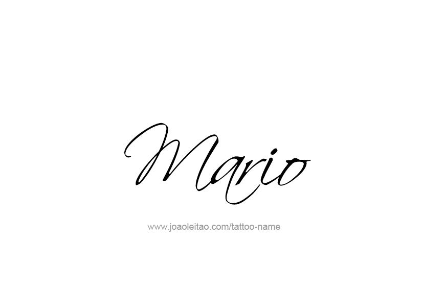Mario Name Tattoo Designs Name Tattoos Name Tattoo Name Tattoo Designs