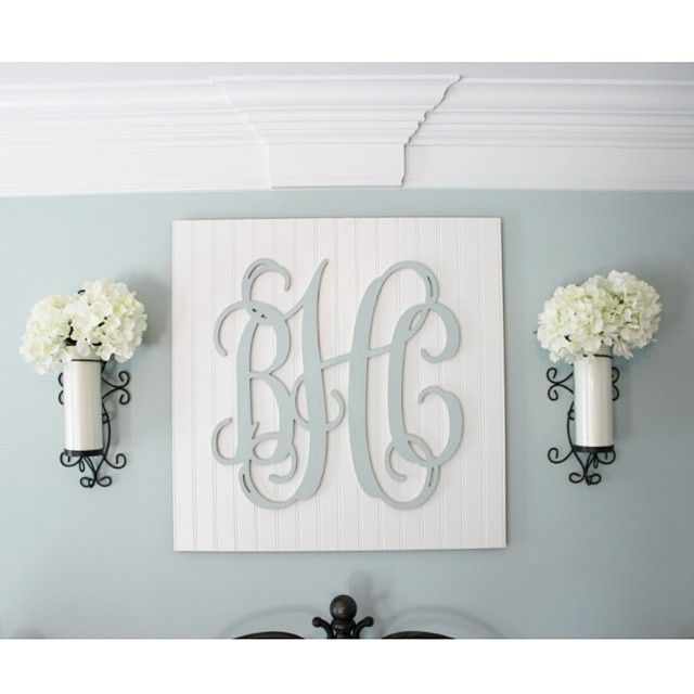 I Get Lots Of Questions About The Monogram Above My Bed So I Figured I D Share All The Details For Thos Monogram Wall Art Wood Monogram Letters Wooden Monogram