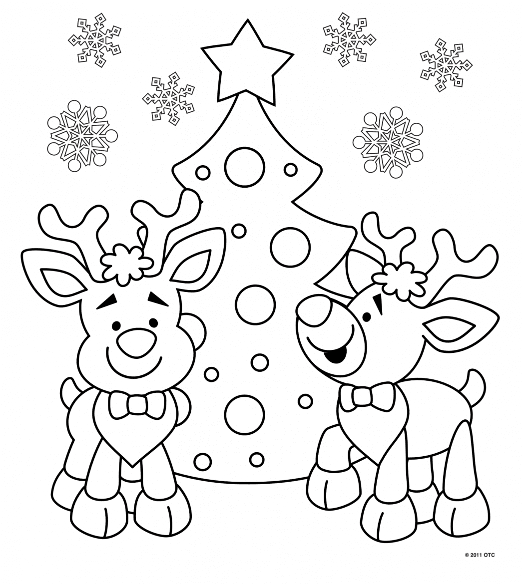 Printable Christmas Colouring Pages - The Organised Housewife