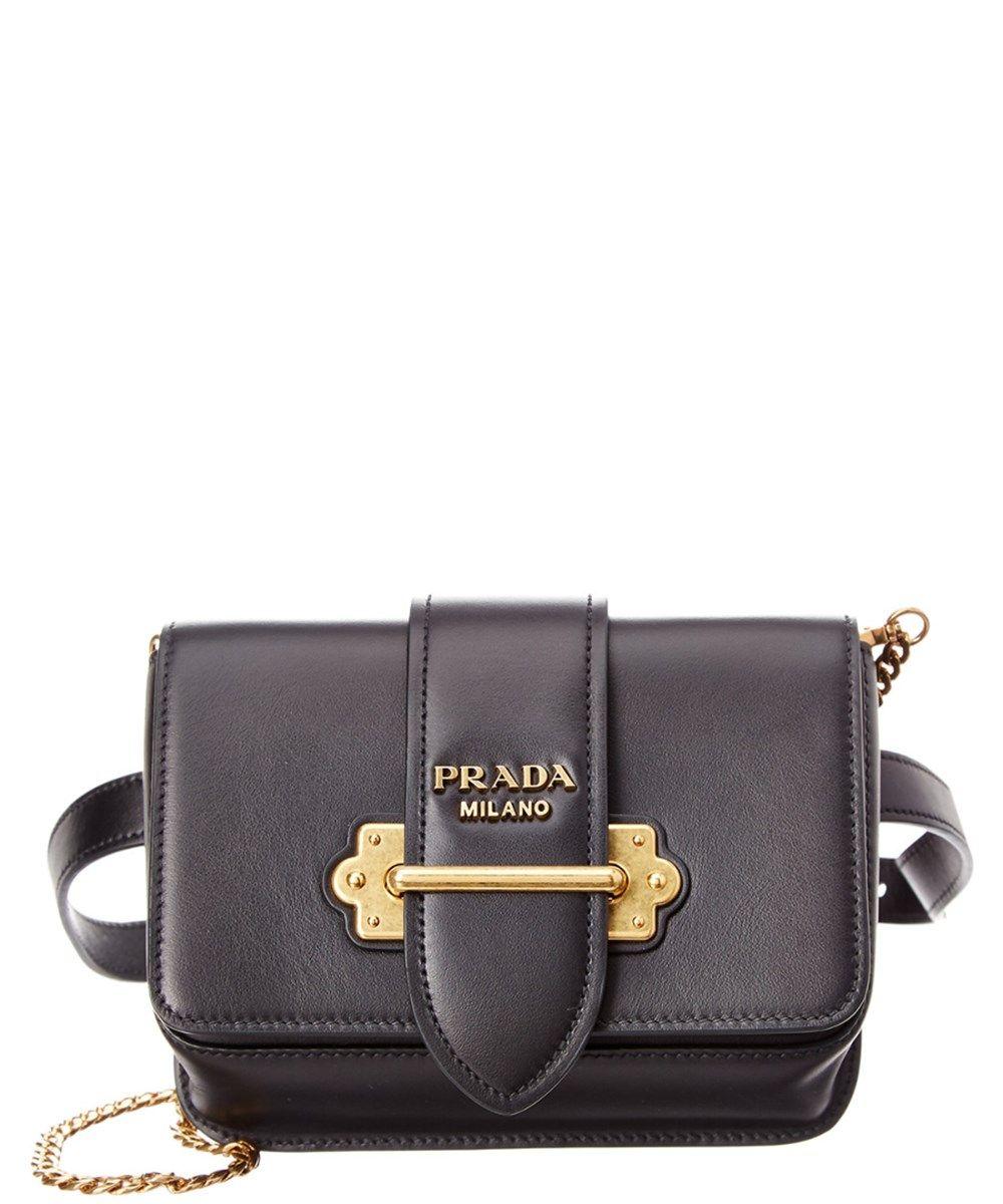 84324af9783a PRADA Prada Cahier Calf Leather Belt Bag.  prada  bags  leather  belt bags   lining