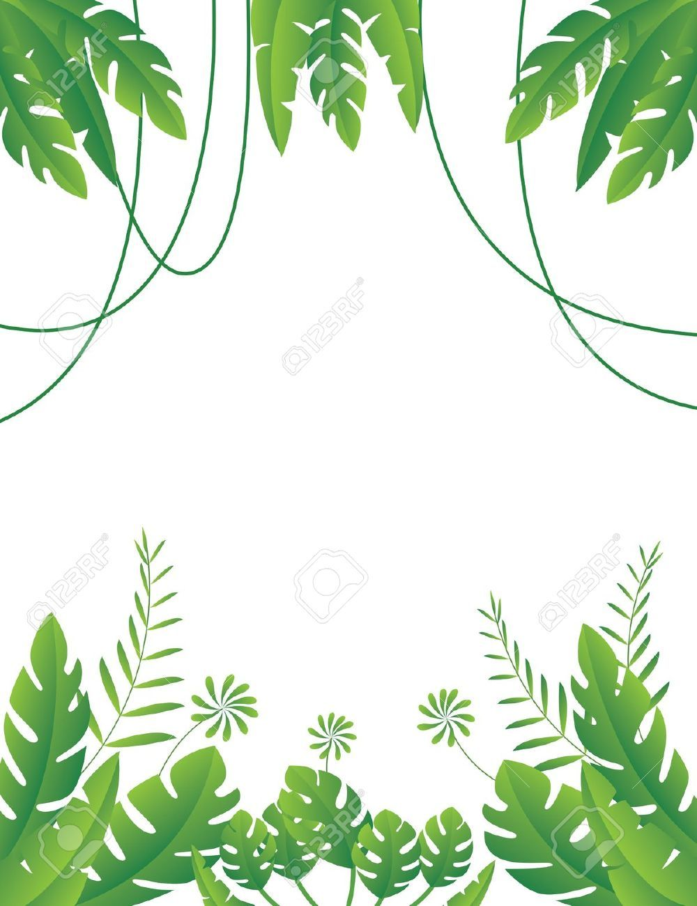 Jungle clipart jungle foliage 1 Jungle clipart, Plant