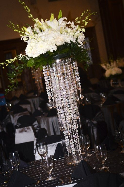 Silver + White / Wedding Centerpieces / The Dominion House