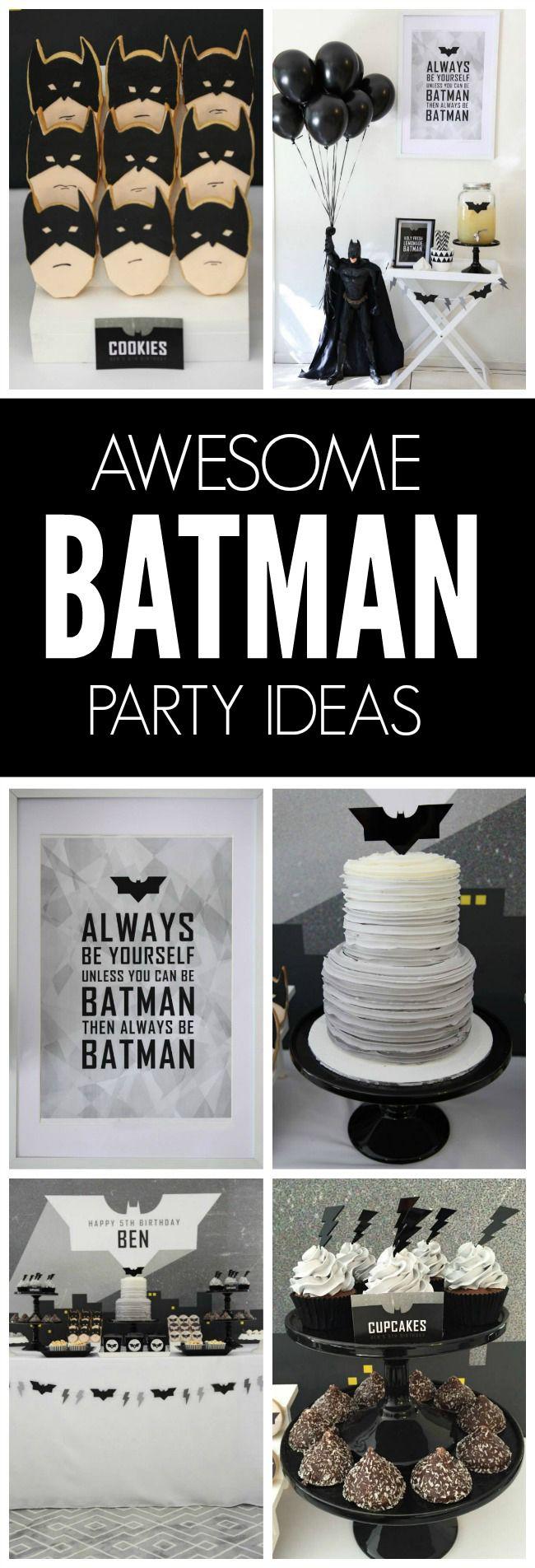 modern batman birthday party superhelden batman und. Black Bedroom Furniture Sets. Home Design Ideas