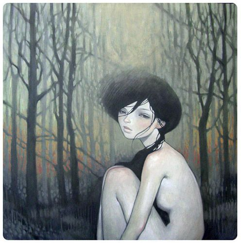 paintings/after the fire.  Audrey Kawaski