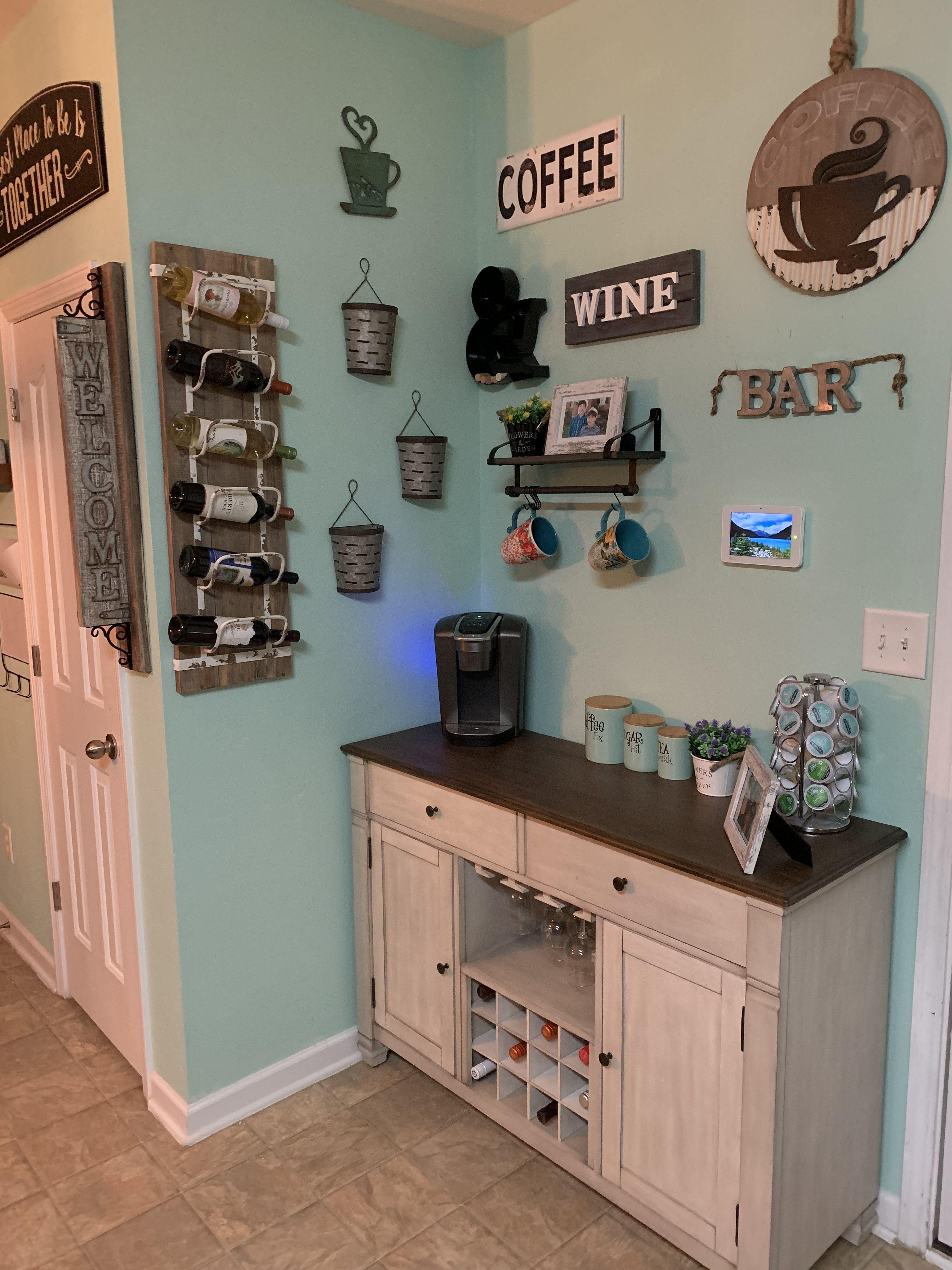 Farmhouse style coffee and wine bar. | Wine bar, Coffee ...