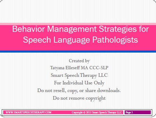 Review: Behavior Management Strategies for Speech Language Pathologists