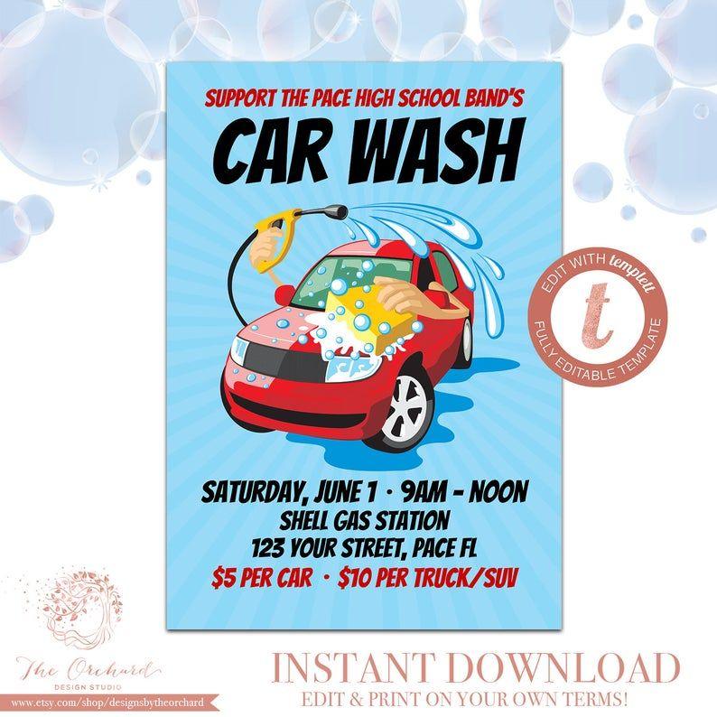 Car Wash Flyer / Fundraiser Church School Community Sports