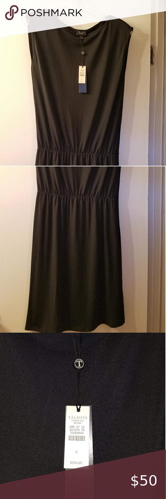 Nwt Talbots Black Dress Size P Talbots Dress Dresses Black Dress [ 1740 x 580 Pixel ]