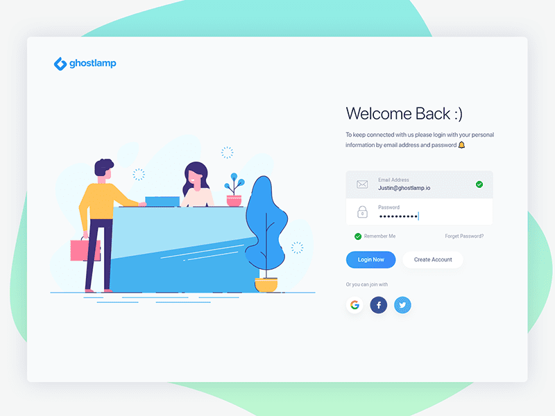 20 Best Login Page Examples And Responsive Templates Free Download Login Design Login Page Login Page Design