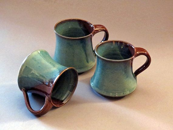 Handmade mugs by KrisCampbellPottery on Etsy, $18.00