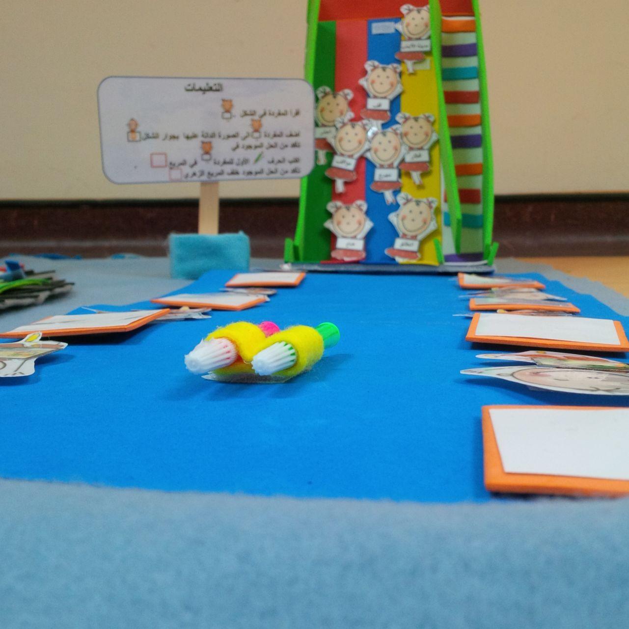 اللعبة اللغوية لعبة الزحليقة الملونة يتم فيها ربط المفردة الموجودة على الفتاة في الزحليقة بالصورة الدالة عليها في البساط الا Kids And Parenting Kids Parenting