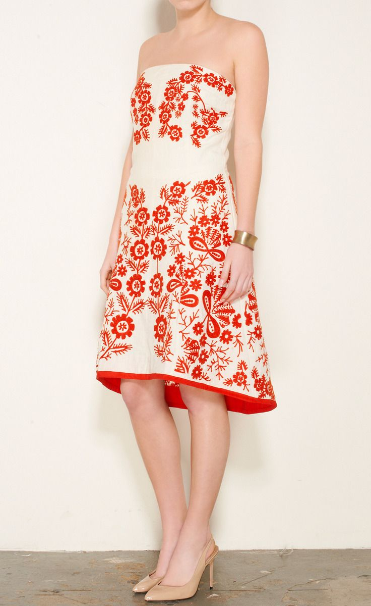 Tracy Reese Red And Beige Dress | VAUNTE