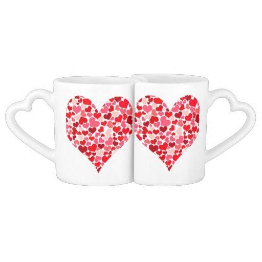 #Hearty_Heart_001 #Lovers_Mug_Set #JAMFotoWorms   #Zazzle.com - 27.95 $ per set