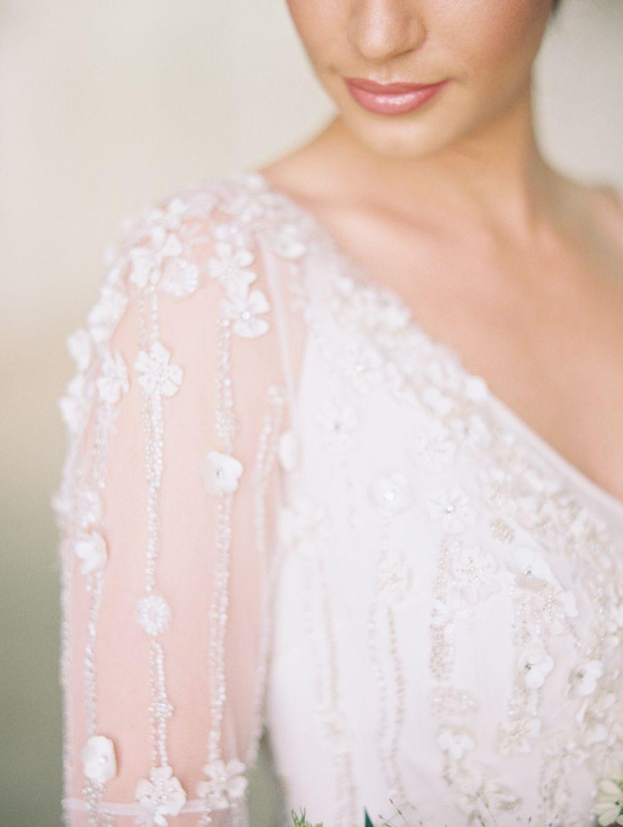 Black tie botanical wedding inspiration vaulting wedding dress