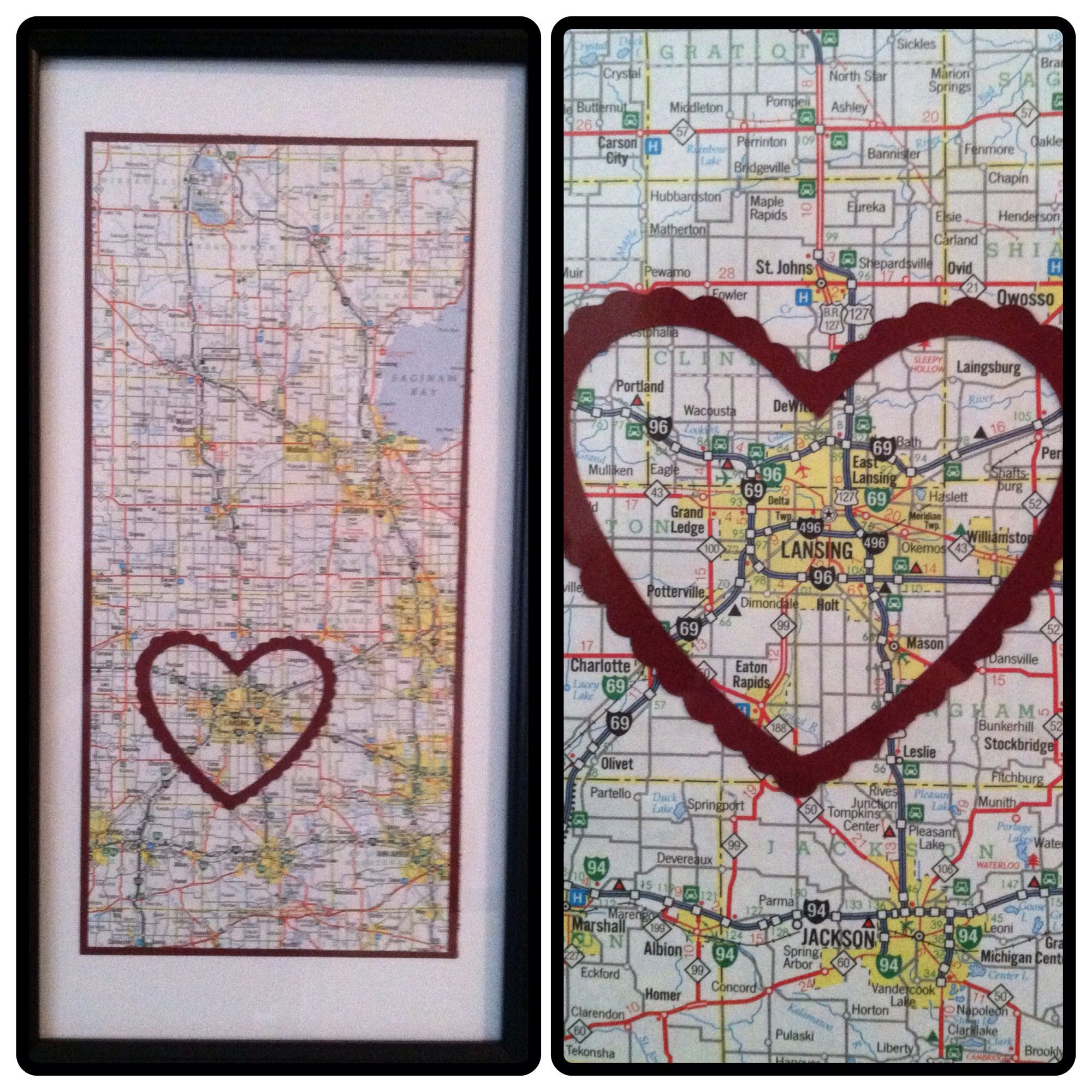 Cricut project DIY map heart from Cricut Craftroom Basics