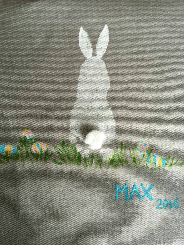 Easter Bunny Using Footprint And Fingerprints For Eggs Note Works Best With Pudgy Little Todder Feet