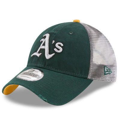 cd841b3261e0e Men s New Era Green Oakland Athletics Team Rustic 9TWENTY Adjustable ...